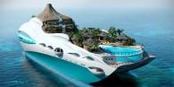 tropical island paradise luxury yacht