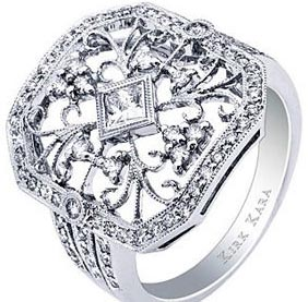 diamond unique engagement rings